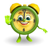 Table clock character with stop pose — Stock Photo