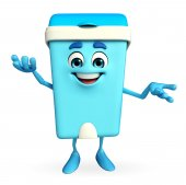 Dustbin Character with holding pose — Stock Photo