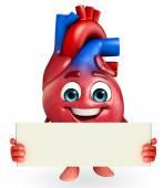 Heart character with sign — Φωτογραφία Αρχείου