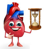 Heart character with sand clock  — Stockfoto
