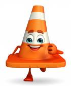 Construction Cone Character is running — Foto de Stock