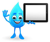 Water Drop Character with tab — 图库照片