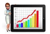 Young Doctor with business graph — Stock Photo
