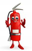 Fire Extinguisher character with clapping pose — Stock Photo