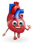 Heart character with running — Stock Photo