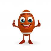 Rubgy ball character with thumbs up — Foto Stock