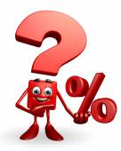 Question Mark character with Percentage sign — Stockfoto