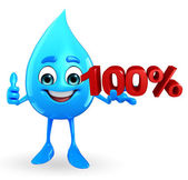 Water Drop Character with Percentage — 图库照片