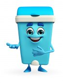 Dustbin Character with welcome pose — 图库照片