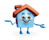 House character is presenting — Stockfoto