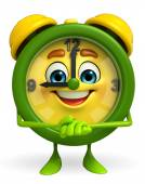 Table clock character with promise pose — Stock Photo