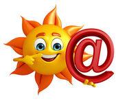 在率标志与太阳字符 — 图库照片