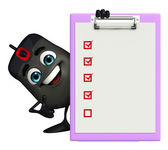 Computer Mouse Character with notepad — Stockfoto