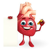 Heart character with sign — Stock Photo