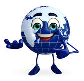 Earth Character holding pose — Stock Photo