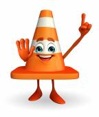 Construction Cone Character with pointing pose — Стоковое фото
