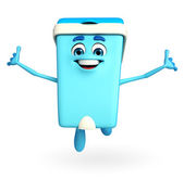 Dustbin Character is jumping — Stock Photo