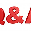 Q and A Letters — Stock Photo #55514557