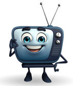 TV character with best sign — Stock Photo