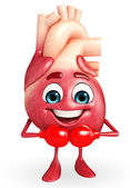 Heart character with boxing gloves — Stock Photo