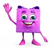 Gift Box Character with hello pose — Foto de Stock