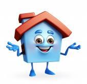 Huset karaktär presenterar — Stockfoto