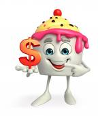 Ice Cream character with dollar sign — Stockfoto