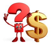 Question Mark character with dollar sign — ストック写真