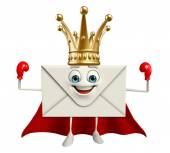 Super Mail Character with crown — ストック写真