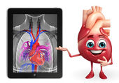 Heart character with heart anatomy — Stock Photo
