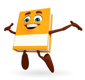 Book Character with jumping pose — Foto de Stock