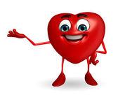 Kalp şekli karakteri ile sunulması — Stok fotoğraf