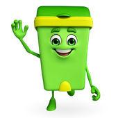 Dustbin Character is running — Foto de Stock