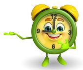 Table clock character is presenting  — Stock Photo
