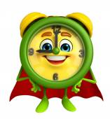 Super Table clock character  — Stock Photo
