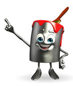 Paint Bucket Character is pointing  — Stock fotografie