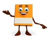 Book Character with holding pose — Stock Photo