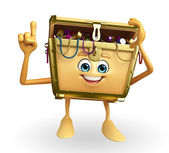 Treasure box character is pointing — Foto Stock