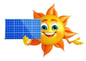 Sun Character With solar system — Stock Photo