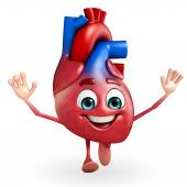 Heart character with happy pose — Stock Photo