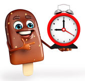 Candy Character With table clock — Photo