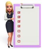 Oficina joven con bloc de notas — Foto de Stock
