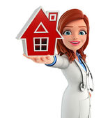 Young Doctor with home — Stock Photo