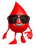 Blood Drop Character with goggle — Stock Photo