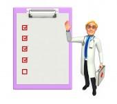 Joven médico con bloc de notas — Foto de Stock