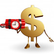 Dollar Character with time bomb — Stock Photo #55590237
