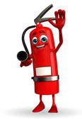 Fire Extinguisher character with hello pose — ストック写真