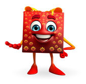 Gift Box Character with holding pose — Stock Photo