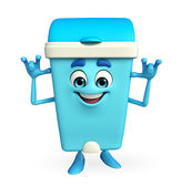 Dustbin Character with teasing pose — Stock Photo