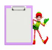 Elves character with notepad — Stock Photo